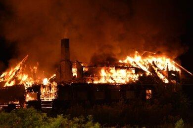 Das ehemalige Ferienheim in Olbernhau brannte im August vergangenen Jahres komplett ab.