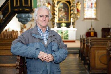 Sieghard Löser in der St.-Laurentius-Kirche Elterlein.