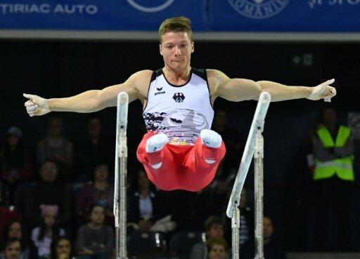 Lukas Dauser hat einen Platz im Barrenfinale sicher