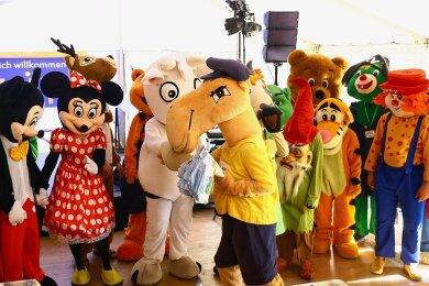 Zum Kinderfest am dem Marktplatz in Annaberg-Buchholz werden auch Käti dund seine Maskottchen-Freunde erwartet.