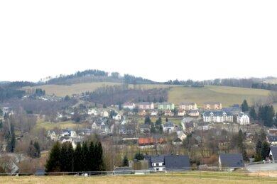 Die Erzgebirgsgemeinde Mulda ist landschaftlich reizvoll gelegen. Hier ein Blick über den Ortsteil Mulda.