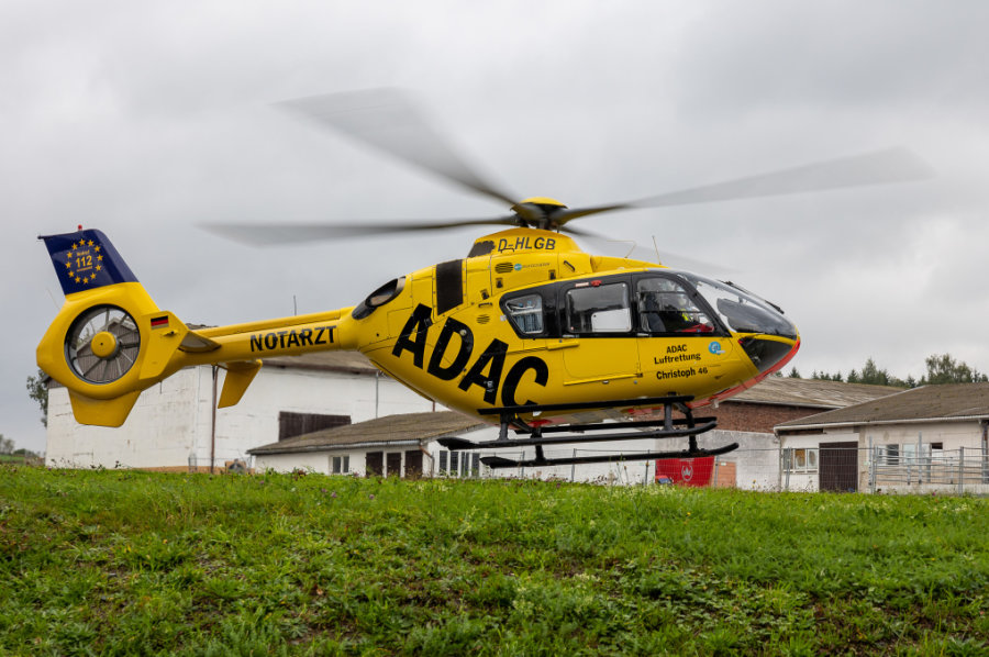 Falkenstein: Rettungshubschrauber bei Unfall im Einsatz