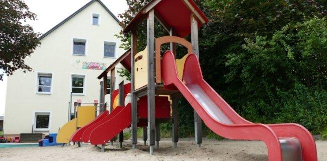 """Auch der jetzige Standort der Kita """"Regenbogen"""" in Gehringswalde wird bei der Planung eines Neubaus in Betracht gezogen."""