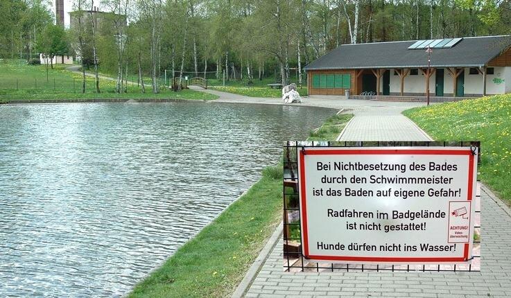"""<p class=""""artikelinhalt"""">Naturbad Grünhain: Baden auf eigene Gefahr.</p>"""
