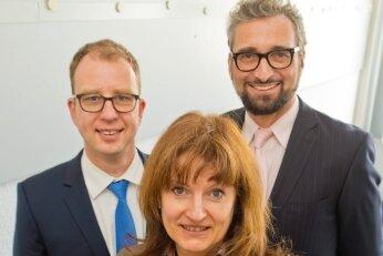 Gaben Rat: Daniel Arnold, Anett Wollen und Ulrich Voigt (v.l.), vom deutschen Bankenverband.