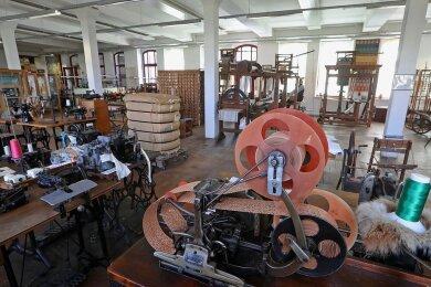 Der große Saal in der ersten Etage des Textil- und Rennsportmuseums in Hohenstein-Ernstthal wird am Sonntag zum Tanzsaal.