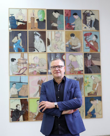 """Ausstellung """"Erlösung und Magie"""" von Jan Kummer in der Galerie in der Spinnerei in Leipzig."""