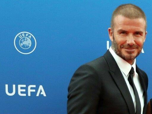 David Beckham erhält den Preis des UEFA-Präsidenten