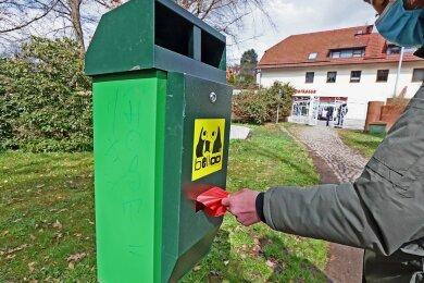 Bisher gibt es in den Ortsteilen der Gemeinde Lichtentanne insgesamt acht Hundetoiletten. In den nächsten Jahren sollen der Verwaltung zufolge weitere hinzukommen.