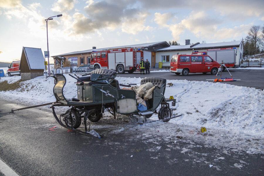 Bei einem Kutschenunfall in Kretscham starben zwei Menschen.