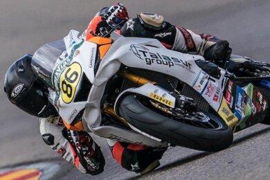 Nicolas Czyba aus Oelsnitz absolviert in diesem Jahr seine zweite Saison in der Europameisterschaft der Klasse Superstock 600.