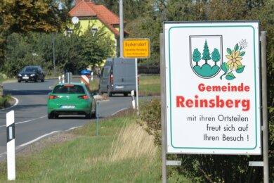 Was wird nun aus der Gemeinde Reinsberg? Hier das Begrüßungsschild aus Richtung Teichhäuser.