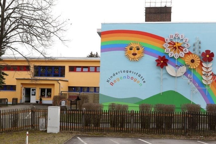 """Die Kita """"Regenbogen"""" an der Ringstraße in Meerane soll einen Erweiterungsbau."""