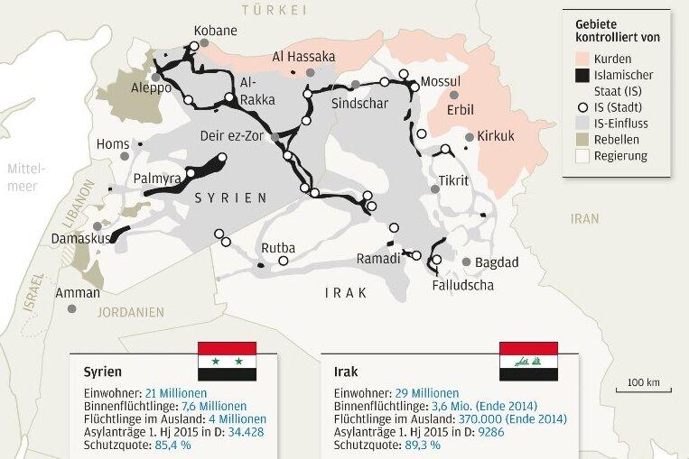 "Schlachtfelder des ""Islamischen Staats"""