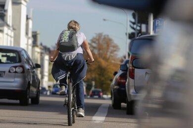 Die Befragten der jüngsten ADFC-Studie bemängeln, dass es in Limbach-Oberfrohna zu wenige Radwege gibt.