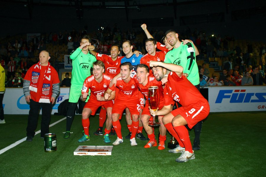 Siegten 2018 beim Hallenmasters: Das Team des FSV Zwickau.