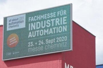 Die Automations-Messe findet zum ersten Mal in Chemnitz statt. Für sie wird schon geworben.