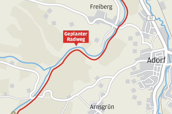 Neue Radroute auf naturbelassenem Weg von Adorf/V. nach Rossbach