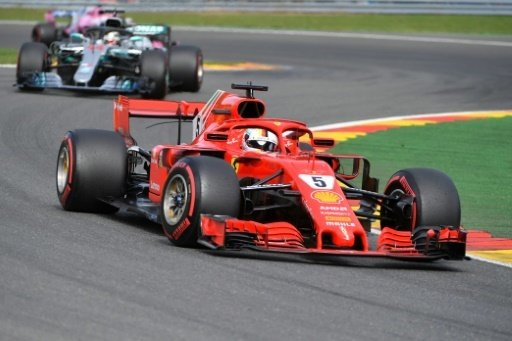 Sebastian Vettel im zweiten freien Training vor Hamilton