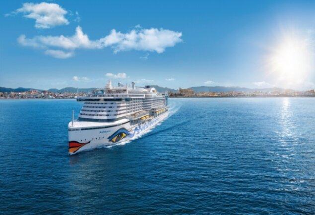 Auf Kurs: Bis zu 3300 Passagiere können mit der Aida Perla gleichzeitig auf Kreuzfahrt gehen. In den nächsten Monaten steuert sie Häfen im Mittelmeer an.