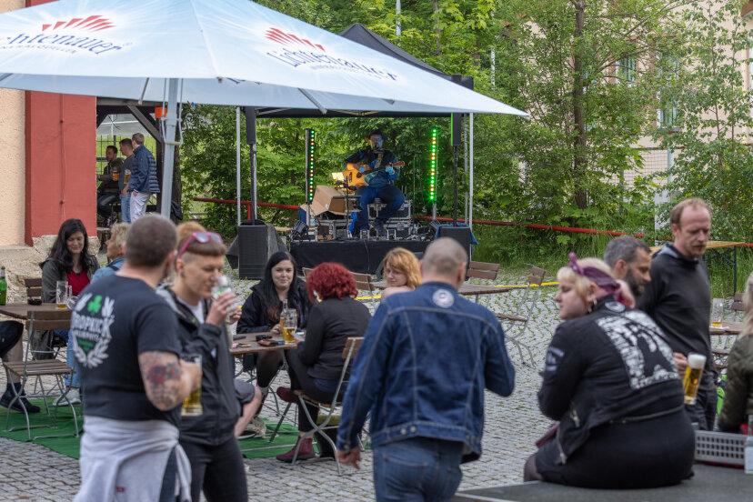 Biergarten und Konzert hieß es am Wochenende in der Alten Brauerei.