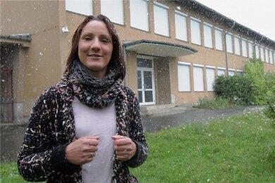 Doreen Rahmig kämpfte um ihr Wohnprojekt in der ehemaligen Coschützer Grundschule. Nun gibt sie auf.