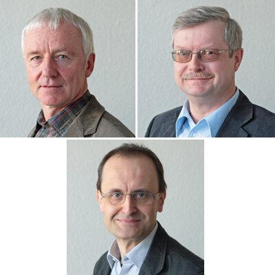 Die Experten: oben: Dr. Dietmar Jolie und Dr. Thomas Breyer; unten: Dr. Stephan Albani
