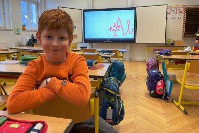 Lenox Bochmann lernt in der Grundschule Jahnsdorf.
