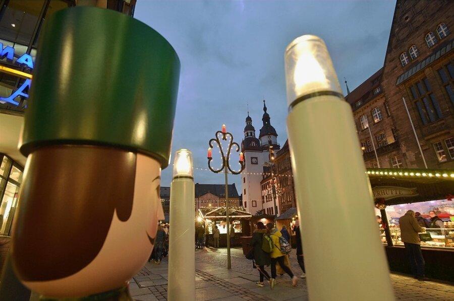 Der Weihnachtsmarkt in Chemnitz zählte vor Ausbruch der Corona-Pandemie alljährlich zu den meistbesuchten Veranstaltungen in der Region.