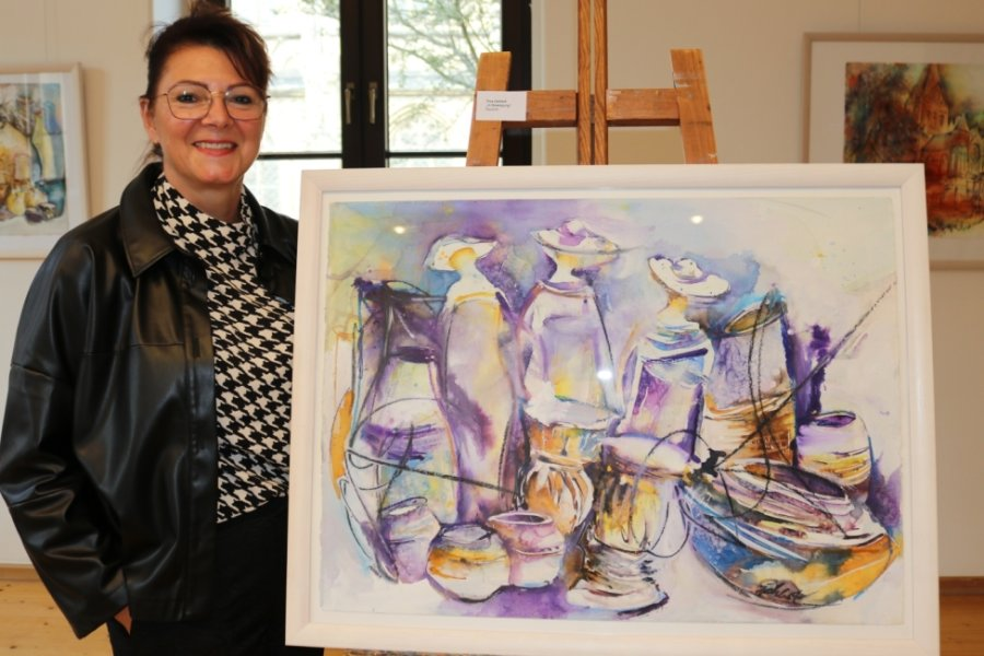 Zwickauer Künstlerin zeigt Aquarelle in Kabinettausstellung