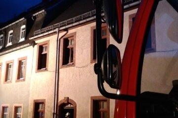 Hier in der Peniger Schloßstraße war die Feuerwehr am Mittwochabend im Einsatz.