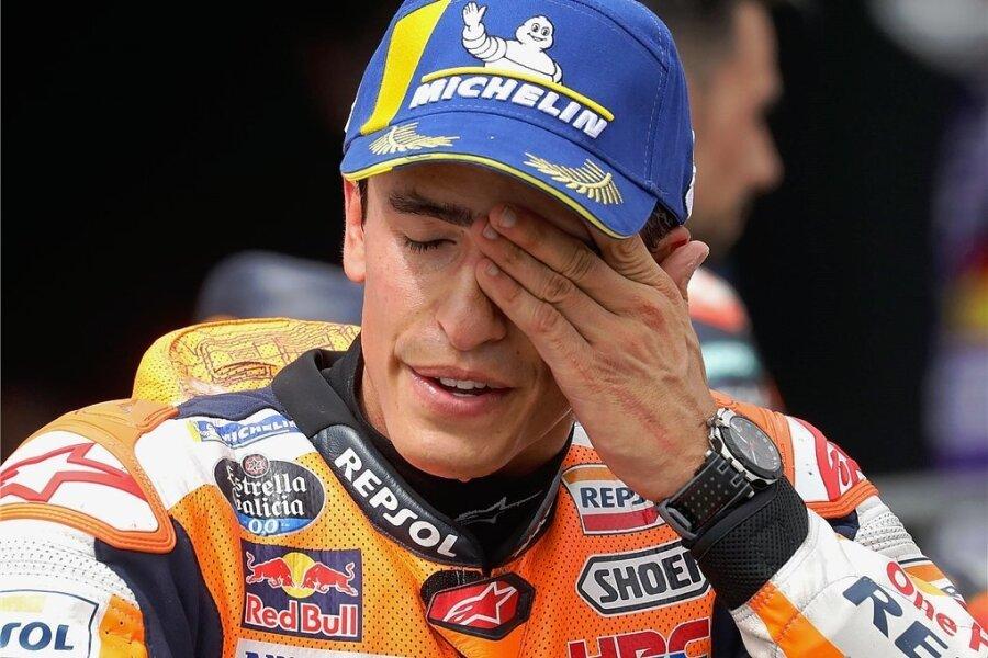Konnte sein Glück nach seinem elften Sieg in Serie auf dem Sachsenring kaum fassen: Marc Marquez.