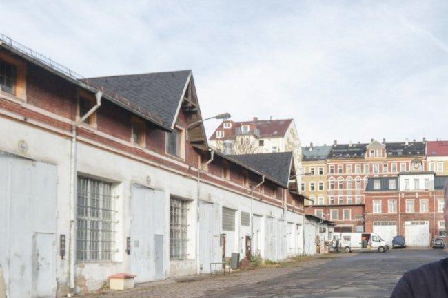 Der Gewerbehof zwischen Schüffner- und Jakobstraße auf dem Sonnenberg.