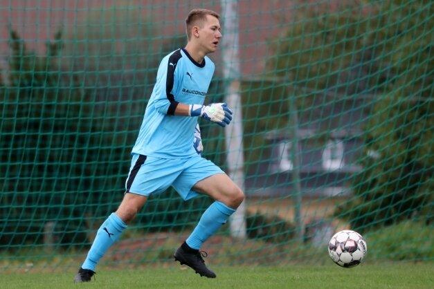 Keeper Maximilian Scheich spielt seit vergangenem Jahr in Lichtenstein. Dabei erzielte er bereits drei Treffer.
