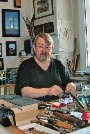Günter Hofmann in seinem Atelier.