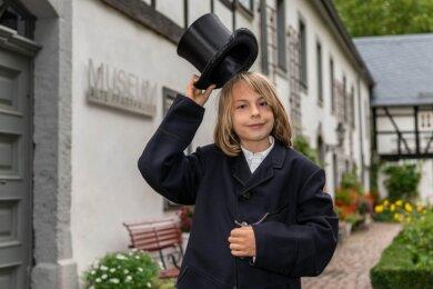 Erik Halumbirek ist das jüngste Mitglied im Förderverein des Museums. Der 11-Jährige ist auch Hauptdarsteller in einem Video,.