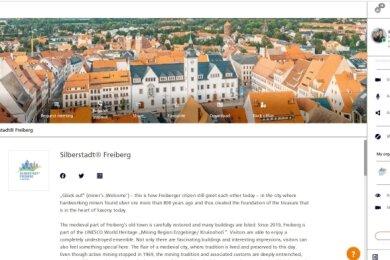 Blick in den virtuellen Ausstellungsraum Freibergs.