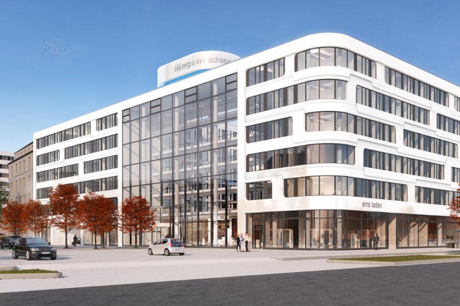 Der Eins-Neubau am Johannisplatz hat vor der für Herbst geplanten Fertigstellung den Eigentümer gewechselt.