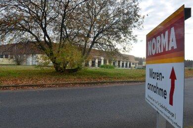 Blick auf das Norma-Zentrallager in Rossau. Dort soll ein neues Kühlhaus angebaut werden.