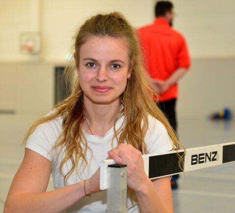 Für das Wintertraining hat Anne Weigold auch die Halle in Mittweida genutzt. Zudem standen Einheiten in Chemnitz auf dem Programm.