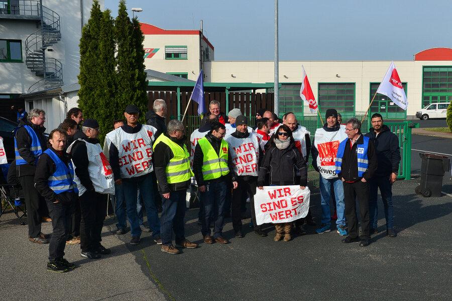 Busfahrer streiken in Mittweida schon zum dritten Mal