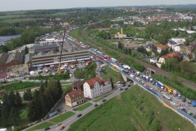 Alljährlich am letzten Aprilwochenende wird die Westtrasse zum Austragungsort der IFA-Oldtimertreffens für Nutzfahrzeuge.