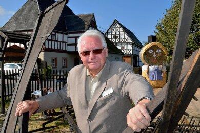 Dort fühlte er sich wohl: Das Museum in Schwarzbach. Dafür, dass seine Vision Wirklichkeit wurde, musste er manche Widerstände überwinden.