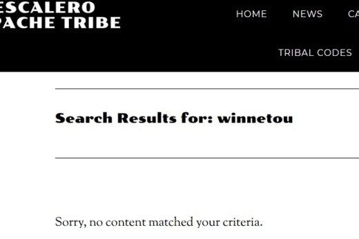 Beim eigenen Stamm unbekannt: Winnetou, die Romanfigur Karl Mays, findet man auf der Website der Mescaleros gar nicht.