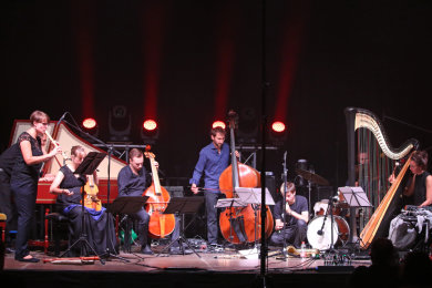 Erst seit November 2019 verweben das Julie Campiche Quartett und Cappella Jenensis modernen Jazz und Barockmusik. Sie siegten beim Nachtklang in der Ritter-Georg-Halle in Schwarzenberg.