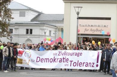 Der Runde Tisch für Demokratie und Toleranz hat sich in Plauen schon mehrfach gegen rechte Gewalt und Hetze gestellt. Die Protestaktion am Samstag fällt aber aufgrund der Corona-Situation aus.