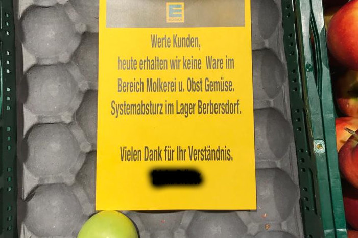 Leere Regale bei Edeka: IT-Problem behoben