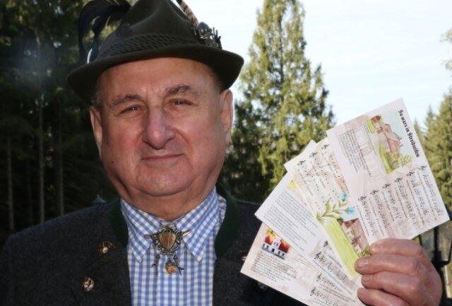 Gottfried Pöhler will mit den Liedpostkarten an die Vertreibung aus dem Böhmerland erinnern.
