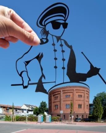 Auf dem alten Gasometer in Zwickau wird jetzt getrommelt.