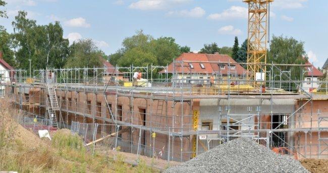 """An der Lessingstraße in Freiberg entsteht für 5,5 Millionen Euro die Kindertagesstätte """"Villa Kunterbunt"""" mit 140 Plätzen."""